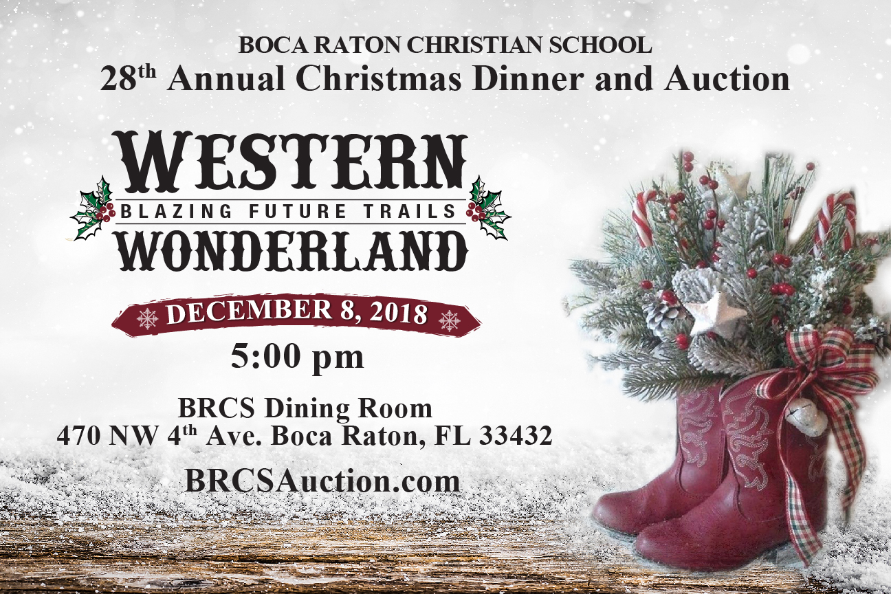 Red manna christmas lunch invitation