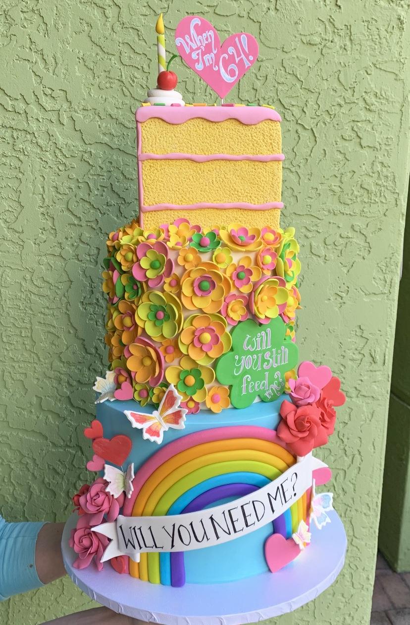 Pleasing Beatles Inspired Custom Birthday Cake Made By Tfc Boca Ratons Funny Birthday Cards Online Necthendildamsfinfo